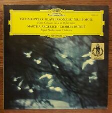 TCHAIKOVSKY PIANO CONCERTO 1 MARTHA ARGERICH CHARLES DUTOIT DGG LP GERMANY NM