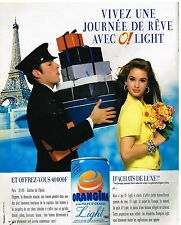 Publicité Advertising 1989 Boisson soda Orangina Light