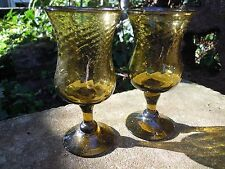 Goblet Chalice pair of amber glass Altar  Pagan Wicca Rrituals Spells