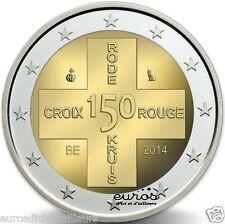"""Pièce commémorative 2 euros BELGIQUE 2014 """"150 ans de la Croix Rouge"""" - UNC"""