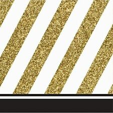 Black and Gold Luncheon Napkins-Set of 16-NEW