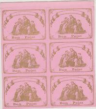 RARE PLANCHE 6 BONS POINTS ANCIENS ROSES -CATECHISME-Ed.BOUASSE-JESUS et ENFANTS