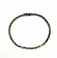 10k white gold .44ct diamond tennis bracelet 6.2g estate vintage antique ladies