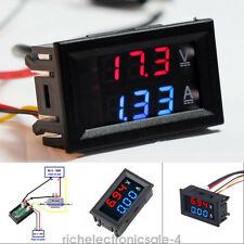 Mini DC 100V 10A Digital Voltmeter Ammeter Blue+Red LED Volt Amp Meter Gauge H C