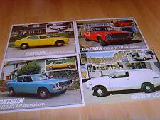 Folletos de coche 1979 6 Datsun folletos Cereza Sunny 120Y Laurel desde 1979