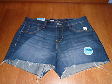 New Womens Size 8 Old Navy Dark Blue Denim Jean Shorts Cut Off Casual Cotton