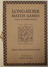 1923 LONG HORR MATCH GAMES Barred Openings Detroit Checkers Draughts Banks