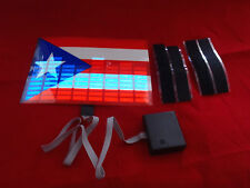 sound Activated DJ LED Flashing Lights PUERTO RICO RICAN FLAG SENSOR FOR TSHIRT