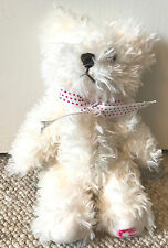 """White Cream Fluffy Teddy Bear from Japan Movable Arms legs with Strap 9"""""""