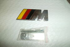 "80mm x 30mm FITS BMW  Grille  ""M"" Badge Solid Metal Emblem For most models"