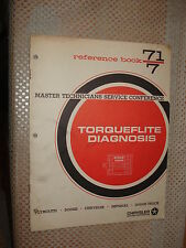 1971 PLYMOUTH DODGE TORQUEFLIGHT DIAGNOSIS SHOP MANUAL SERVICE TRAINING BOOK
