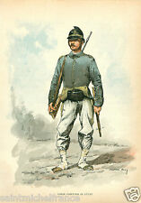Guardiaparco Garde forestier Park ranger 1887 ITALIA ARMY UNIFORM ANTIQUE PRINT