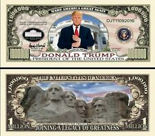 DONALD TRUMP - BILLET MILLION DOLLAR US ! Collection President USA Milliardaire