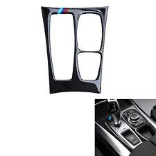 For BMW X6 E71 2008-2013 Car Interior Console Gear Panel Cover Trim Carbon Fiber
