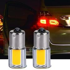 2X  BA15S 1156 42 COB LED SMD Amber Yellow Rear Car Tail Turn Signal Light Bulbs
