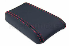 Armrest Center Console Leather Cover for Toyota Celica 82-86 Red Stitich