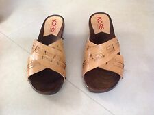 New MICHAEL KORS Wood & Leather Cross Strap Shoes made in ITALY Size 11M Unworn