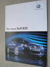 Volkswagen VW Golf R32 German Brochure Dated 2005 MK5 Good Condition