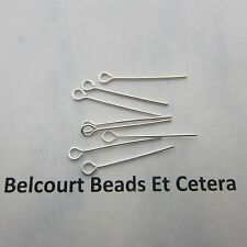 """1000 Metal Open Eye Pins - Silver Color 1"""" (25.4mm) - 22GA Easy to Use!"""