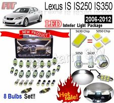8pcs White LED Interior Light Kit For Lexus IS IS250 IS350 IS F 2006-2012