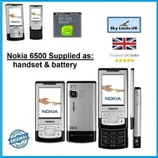 Nueva condición Clásico Nokia 6500 diapositiva de Plata 3G libres SIM Desbloqueado Teléfono Móvil