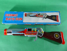 Shudo Cosmic Rays Gun  blech / tinplate  Japan 1960's - 33cm - Space Toy