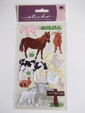 STICKO STICKERS - PETTING ZOO  farm animals horse cow