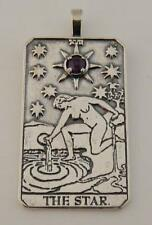 The STAR Tarot Card Pendant Sterling Silver with Amethyst HOPE Truth INSPIRATION