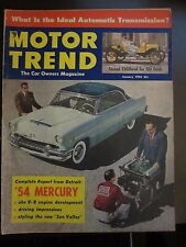 Motor Trend Magazine January 1954 Mercury Old Fords (AN)