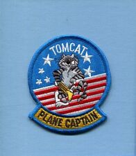 GRUMMAN F-14 TOMCAT PC PLANE CAPTAIN US Navy Fighter Squadron Maintenance Patch