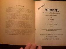 """livret pièce de théatre en allemand """"Schwindel"""" de G. GRIMM Edition Jaggi-Reiss"""