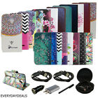 Credit Card PU Leather Wallet Pouch Slim Stand Case Cover for ZTE phone + EXTRAS