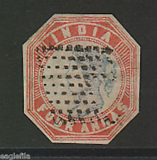 India  QV  SG 21  4A Litho Stamp  Cut To Shape Used Very Fine CV £2000 #56490 s