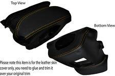 El pespunte amarillo de directivo de la cubierta de cuero Skin Tapa se ajusta Nissan Navara D40 05-15