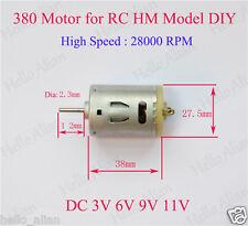 DC3V 6V 9V 11V 28000RPM High Speed Carbon Brush 380 DC Motor for RC HM Model DIY