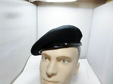 BRITISH ARMY TANK REGIMENT BLACK BERET SIZE 7 1/2