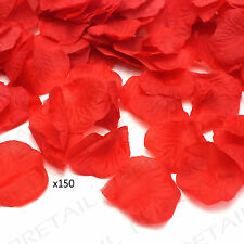 RED ROSE PETALS ★PACK OF 150★ Special Occasion Fabric Craft Valentines Confetti