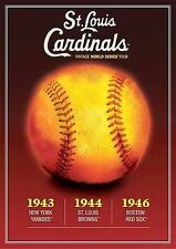 ST. LOUIS CARDINALS VINTAGE WORLD SERIES FILMS 1940'S NEW DVD 1943 1944 1946