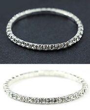 5PCS Crystal Rhinestone Party Wedding Bridal Elastic Bracelet Wristband S15
