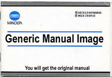Minolta XG-1 Camera Instruction Book. More Original Manuals & Guides Listed