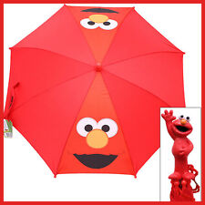 Sesame Street Elmo Kids Umbrella with Figure Handle - Elmo Big Face