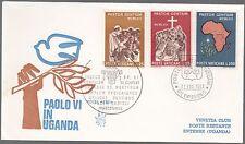 VATICANO BUSTA VENETIA VIAGGI PAOLO VI AFRICA 1969 FDC PRIMO GIORNO
