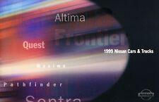 1999 Nissan 24page Car Sales Brochure Catalog - Maxima Frontier Altima Sentra
