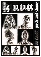 NO DOUBT Push And Shove Ltd Ed RARE 10 Stickers Lot +FREE Alt Rock Punk Stickers