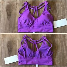 NWT Lululemon As You Like Bra Sz 6 MONL Moonlit Magenta Purple Long Line C/D Cup