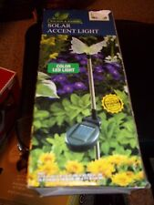 WILSON & FISHER SOLAR ACCENT LIGHT BUTTERFLY COLOR LED LIGHT OUTDOOR LIGHTING