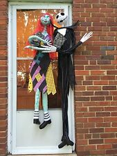 6' Jack Skellington & 5' Sally set Static Halloween Decoration LED Musical Prop