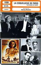 Fiche Cinéma. Movie Card. La coqueluche de Paris/The rage of Paris (USA) 1938