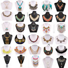 Fashion Jewelry Chain Crystal Choker Pendant Chunky Statement Bib Necklace Party