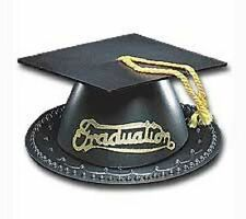 ONE Black Graduation Cap W/ Tassel Cake Topper Decor Grad Party Supply